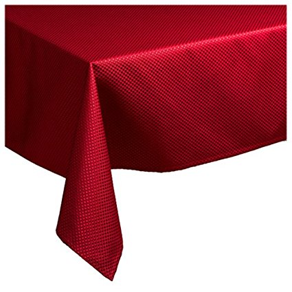 Waterford Table Crosshaven 70 by 84-Inch Oblong Table Cloth, Red