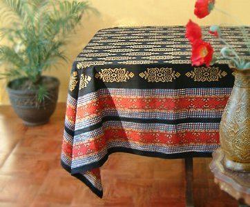 Kilim Noir ~ Designer Black Gold Banquet Party Tablecloth 70×120 Review