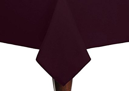 Ultimate Textile (5 Pack) Cotton-feel 72 x 72-Inch Square Tablecloth – for Wedding and Banquet, Hotel or Home Fine Dining use, Burgundy Dark Red Review