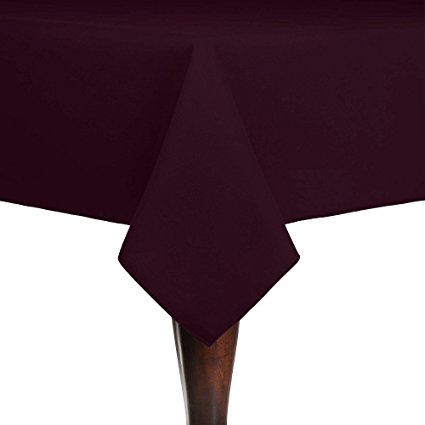 Ultimate Textile (5 Pack) Cotton-feel 72 x 72-Inch Square Tablecloth - for Wedding and Banquet, Hotel or Home Fine Dining use, Burgundy Dark Red