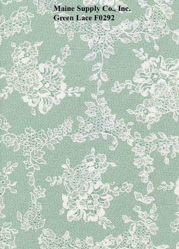Green Lace Series F0292 Vinyl Tablecloth 54