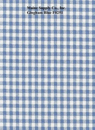 Blue Gingham Check Series F0251 Vinyl Tablecloth 54