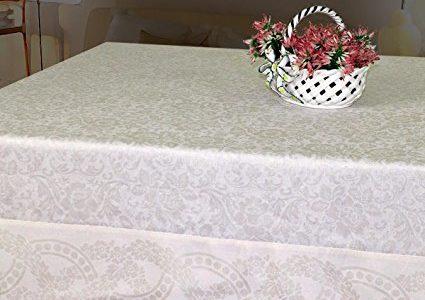 Armani International Finesse Luxury European Yarn Dyed Jacquard Tablecloths 71 x 126-inch Rectangle, 6-inch jacquard border, diagonal corners Review