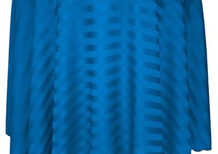 Ultimate Textile (10 Pack) Satin-Stripe 60-Inch Round Tablecloth – for Wedding and Catering, Hotel or Home Dining use, Cobalt Blue Review