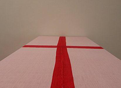 "Gitika Goyal Home Cotton Khadi Red Screen Printed Tablecloth with Border Design, Pink, 72"" x 108″ Review"