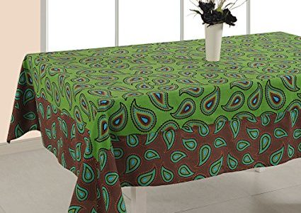 ShalinIndia Tablecloth 56 x 140 Inches Rectangular – Floral Print Cotton – Indian Home Table Decor Review