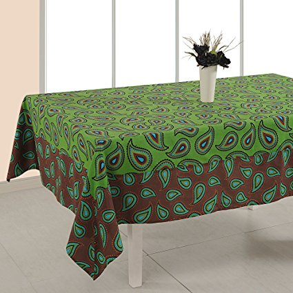 ShalinIndia Tablecloth 56 x 140 Inches Rectangular - Floral Print Cotton - Indian Home Table Decor